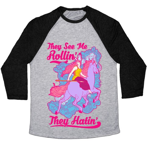 e8095105f5b52a They See Me Rollin  They Hatin  Valkyrie Baseball Tee