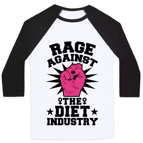 Rage Against the Diet Industry Baseball Tee