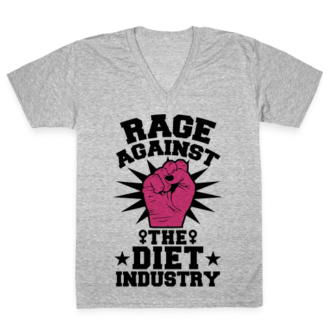 Rage Against the Diet Industry V-Neck Tee Shirt