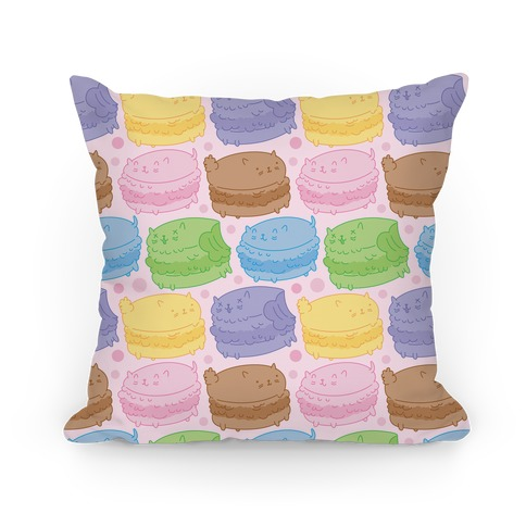 Cat Macarons Pillow