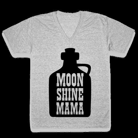 Moonshine Mama V-Neck Tee Shirt