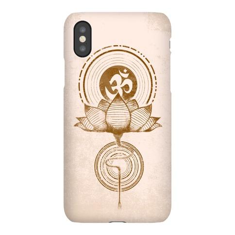 Aum and Lotus Phone Case
