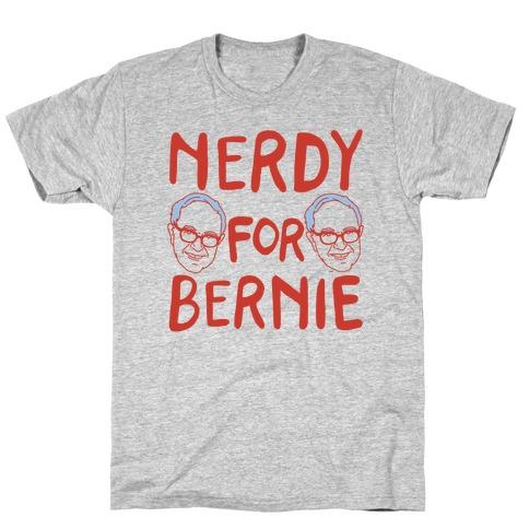 Nerdy For Bernie T-Shirt