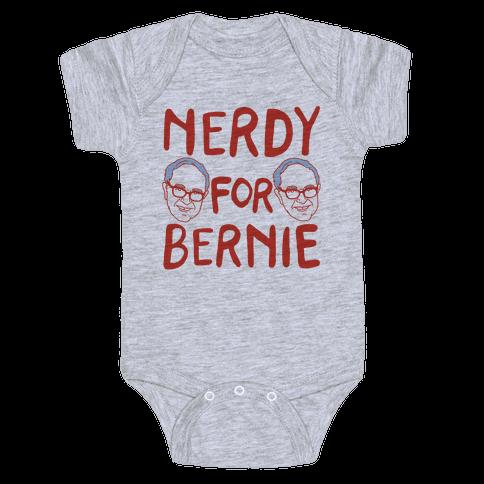 Nerdy For Bernie Baby Onesy