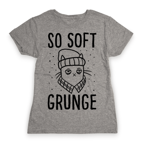 Soft Grunge Cat Womens T-Shirt