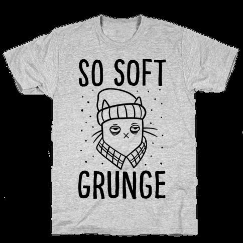Soft Grunge Cat Mens T-Shirt