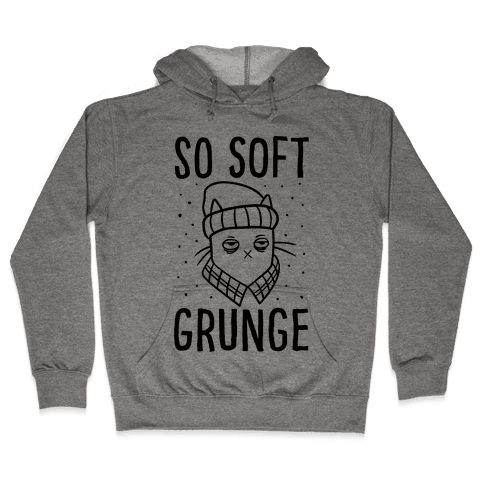 Soft Grunge Cat Hooded Sweatshirt