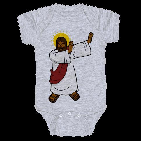 Dabbing Jesus Baby Onesy