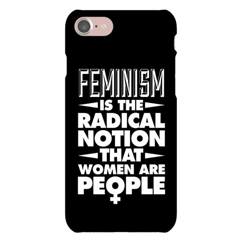 Feminism: A Radical Notion (Black) Phone Case