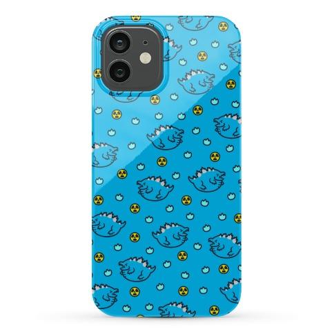 Blue Fat Godzilla Pattern Phone Case