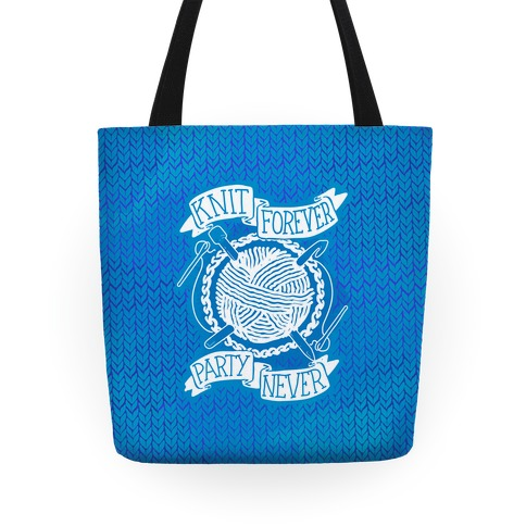 Knit Forever Party Never Tote