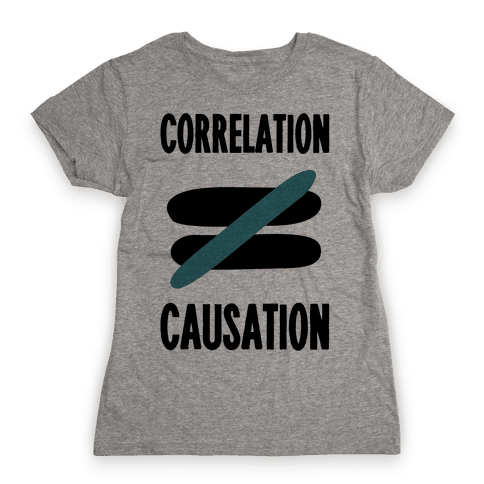 Correlation Does Not Equal Causation Womens T-Shirt