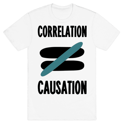 Correlation Does Not Equal Causation Mens T-Shirt