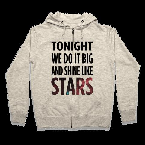 Shine Like Stars Zip Hoodie