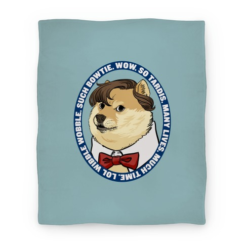 The Doctor Doge Blanket