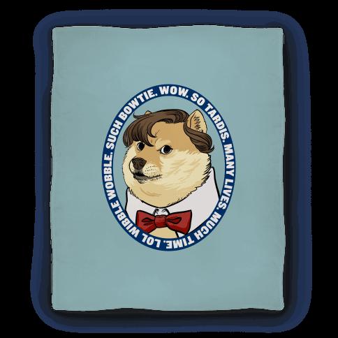 The Doctor Doge Blanket