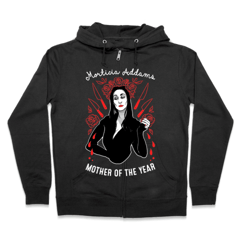Morticia Addams Mother of the Year Zip Hoodie