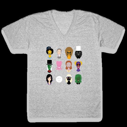 Many Faces of Fielding V-Neck Tee Shirt