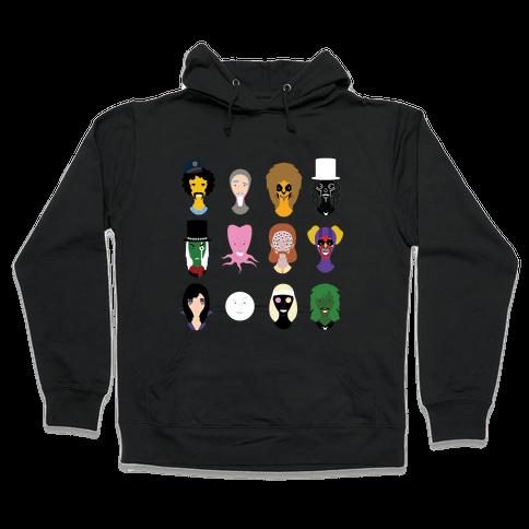 Many Faces of Fielding Hooded Sweatshirt