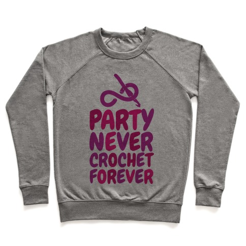 Party Never Crochet Forever Pullover