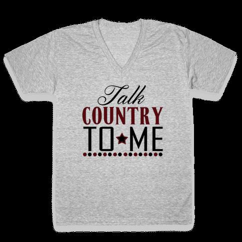 Talk Country V-Neck Tee Shirt