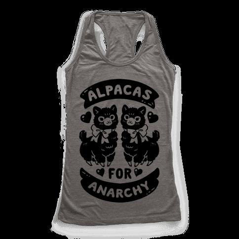 Alpacas For Anarchy Racerback Tank Top