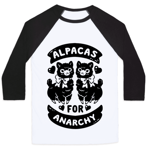 Alpacas For Anarchy Baseball Tee