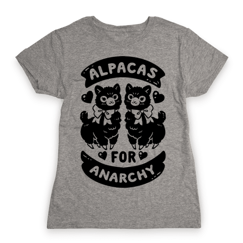 Alpacas For Anarchy Womens T-Shirt