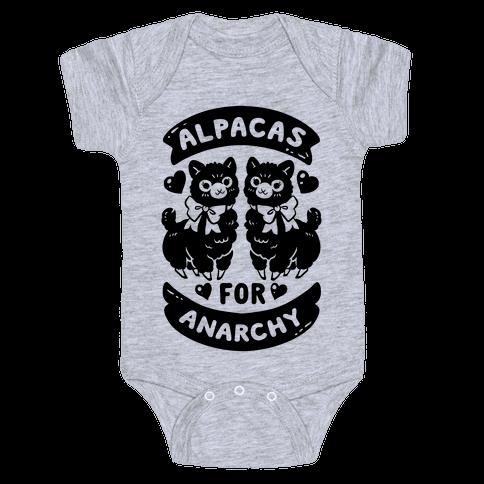 Alpacas For Anarchy Baby Onesy