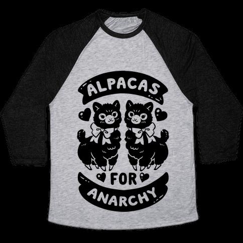 Alpacas For Anarchy Baseball Tee