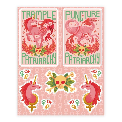 Trample The Patriarchy Feminist  Sticker/Decal Sheet