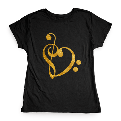 Musical Heart Womens T-Shirt