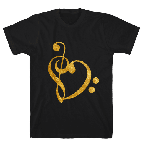 Musical Heart Mens T-Shirt