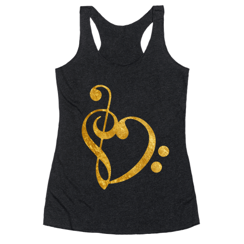 Musical Heart Racerback Tank Top