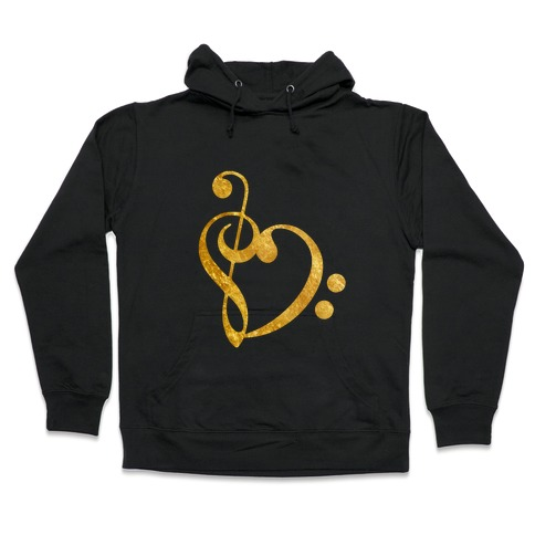 Musical Heart Hooded Sweatshirt