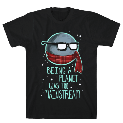 Hipster Pluto Mens T-Shirt