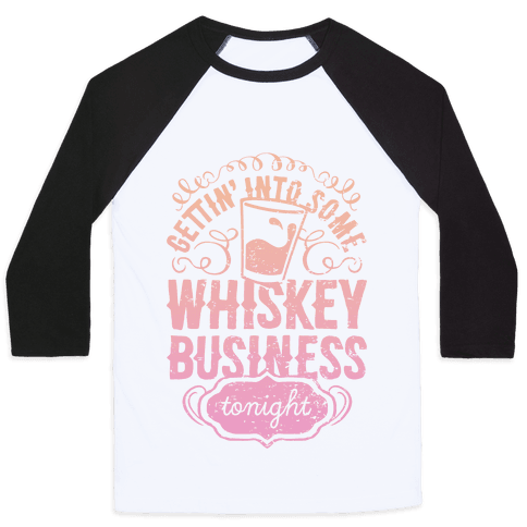 Whiskey Business Baseball Tee