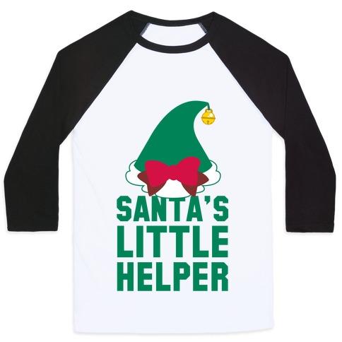 Santa's Little Helper Baseball Tee