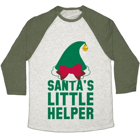 Santa's Little Helper Baseball Tee