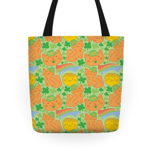 Magical Leprechaun Cats Tote