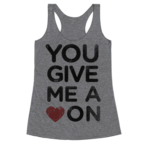 Heart On Racerback Tank Top