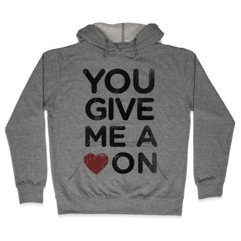 Heart On Hooded Sweatshirt