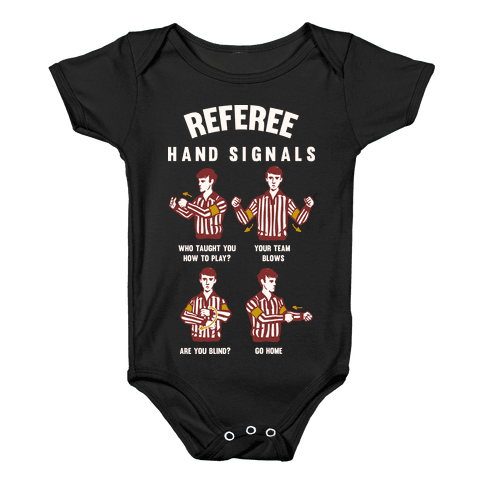 Funny Referee Hand Signals Baby Onesy