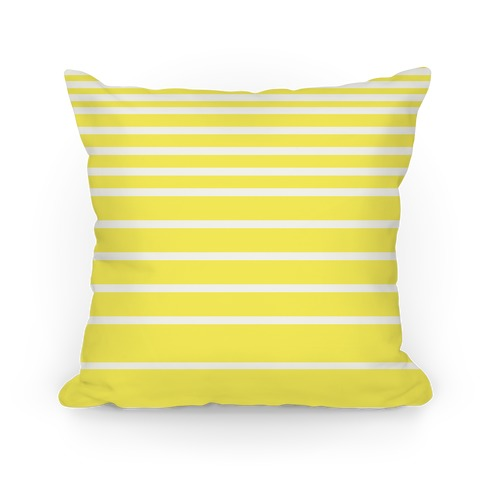 Yellow Stripe Pillow Pillow