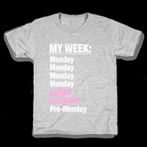 My Typical Week Kids T-Shirt