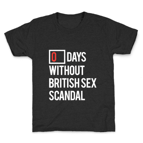 British Sex Scandal Kids T-Shirt