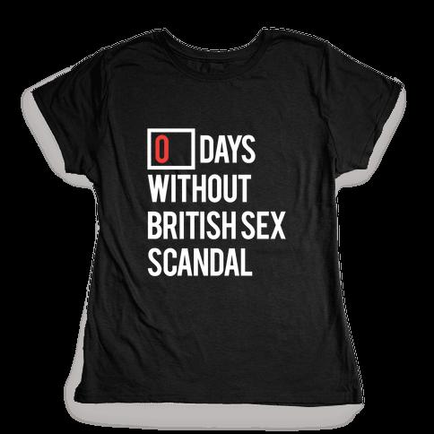 British Sex Scandal Womens T-Shirt