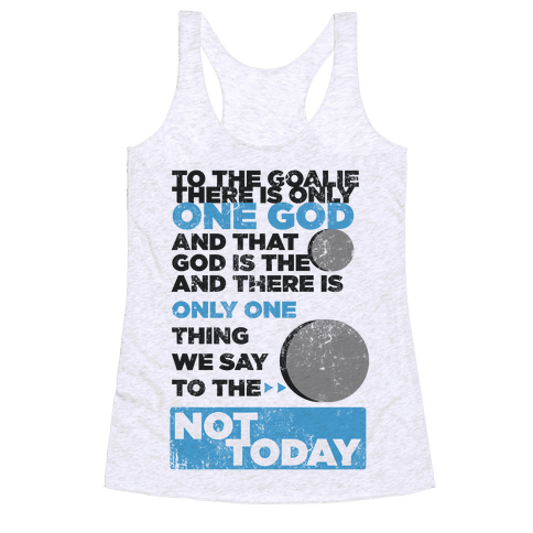 The Puck is God Racerback Tank Top