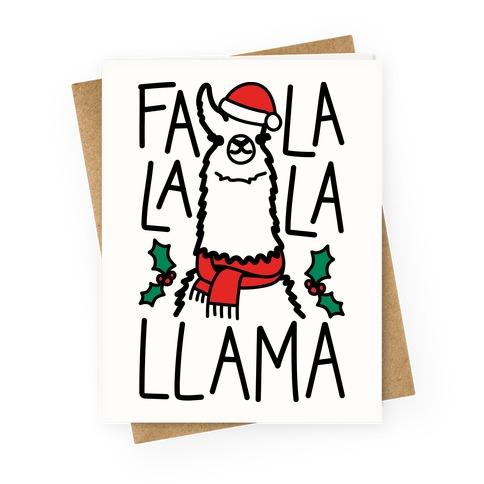 Falalala Llama Greeting Card