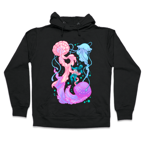 Deep Sea Diver & Jellyfish Hooded Sweatshirt